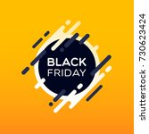 black friday sale banner. | Shutterstock .eps vector #730623424