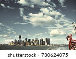 day view of the manhattan... | Shutterstock . vector #730624075