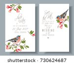 vector wedding vertical cards... | Shutterstock .eps vector #730624687