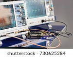 modern digital measuring... | Shutterstock . vector #730625284
