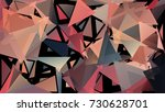 abstract pattern consisting of... | Shutterstock .eps vector #730628701
