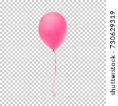 realistic pink balloon isolated ... | Shutterstock .eps vector #730629319