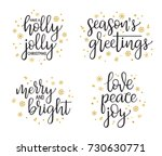 christmas greetings... | Shutterstock .eps vector #730630771