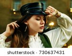 outdoor close up portrait of... | Shutterstock . vector #730637431