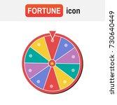 wheel fortune spin. wheel of... | Shutterstock .eps vector #730640449