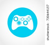 games icon isolated on white... | Shutterstock .eps vector #730644157