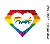pride in heart lettering lgbt... | Shutterstock .eps vector #730645834