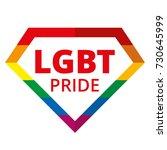 diamond lgbt pride rainbow... | Shutterstock .eps vector #730645999