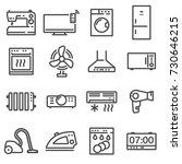 vector line household... | Shutterstock .eps vector #730646215