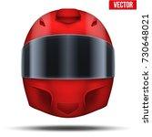 red motor racing helmet with... | Shutterstock .eps vector #730648021