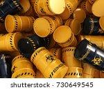 3d rendering yellow and black...   Shutterstock . vector #730649545