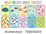 children cards numbers with... | Shutterstock .eps vector #730656655