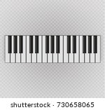 musical instrument. key piano ... | Shutterstock .eps vector #730658065