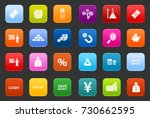 investment icons | Shutterstock .eps vector #730662595