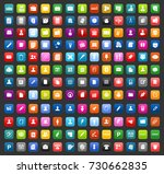office icons | Shutterstock .eps vector #730662835