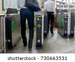 passengers are going through a... | Shutterstock . vector #730663531