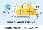 vector illustration of video... | Shutterstock .eps vector #730665694