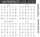 120 modern thin line icons set... | Shutterstock .eps vector #730670404