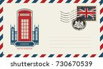 vector envelope with london... | Shutterstock .eps vector #730670539