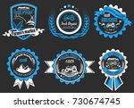 set of farm fresh food. farm... | Shutterstock . vector #730674745
