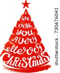 christmas calligraphy   Shutterstock .eps vector #730676041