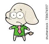 cartoon unsure elephant in... | Shutterstock .eps vector #730676557