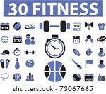30 fitness icons  vector | Shutterstock .eps vector #73067665