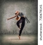 woman dancer  in beautiful... | Shutterstock . vector #730678141
