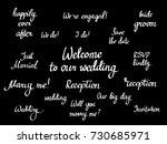vector wedding calligraphy set. ...   Shutterstock .eps vector #730685971