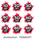 sale and discount brush labels. ... | Shutterstock .eps vector #730686397