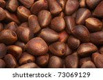 Background of pine nuts - stock photo