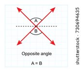 types of angles.  on blue graph ... | Shutterstock .eps vector #730694635