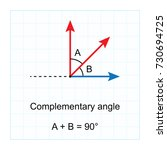 types of angles.  on blue graph ... | Shutterstock .eps vector #730694725