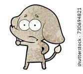 cartoon unsure elephant | Shutterstock .eps vector #730694821