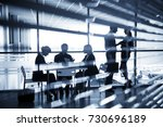 silhouettes of business people ... | Shutterstock . vector #730696189
