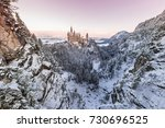 neuschwanstein castle during... | Shutterstock . vector #730696525