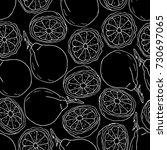 bergamot illustration. set of... | Shutterstock . vector #730697065