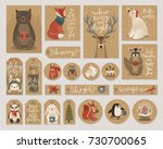 christmas kraft paper cards and ...