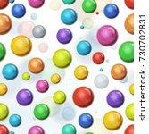 seamless multicolored balls