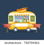 concept of street trading. man... | Shutterstock .eps vector #730704361