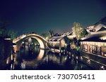 view of gu shui bei zhen in...   Shutterstock . vector #730705411