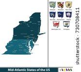 vector set of mid atlantic... | Shutterstock .eps vector #730708411