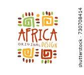 original african tribal...   Shutterstock .eps vector #730708414