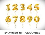 raster copy golden number 1  2  ... | Shutterstock . vector #730709881