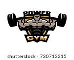 power sport gym logo  emblem.   Shutterstock . vector #730712215