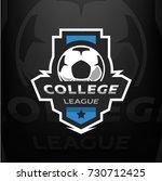 football logo  on a dark...   Shutterstock . vector #730712425