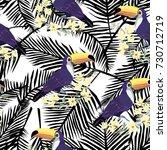toucan pattern  vector ... | Shutterstock .eps vector #730712719