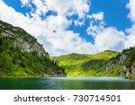tappenkarsee in austrian alps ...   Shutterstock . vector #730714501