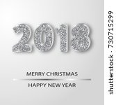 sparkling 2018 numerals... | Shutterstock .eps vector #730715299