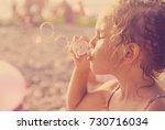 five year old caucasian... | Shutterstock . vector #730716034